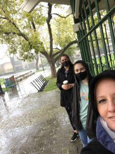 Our lab outing to celebrate Lauren joining our lab! Of course it rained.